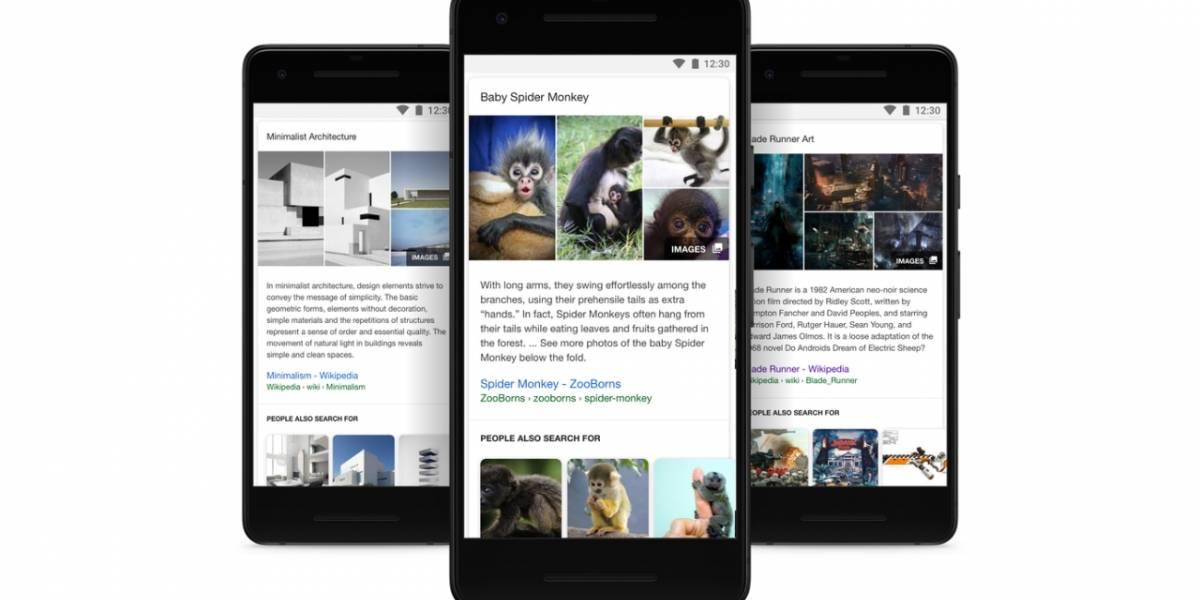 Aplicación de Google se actualiza con descubrimiento enriquecido