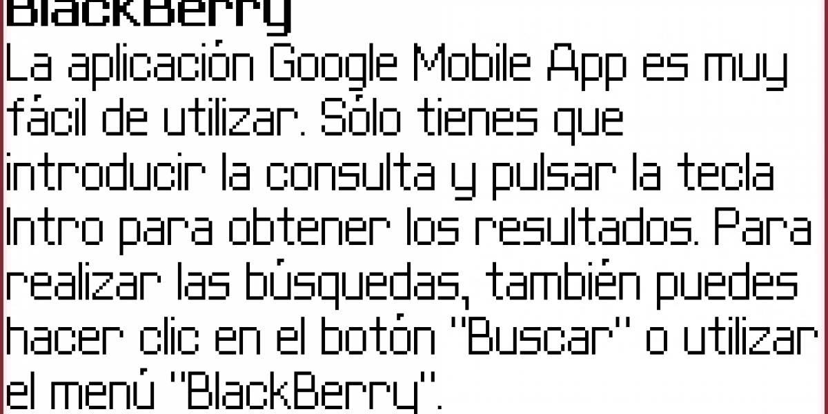 Nueva actualización de Google Mobile App para BlackBerry