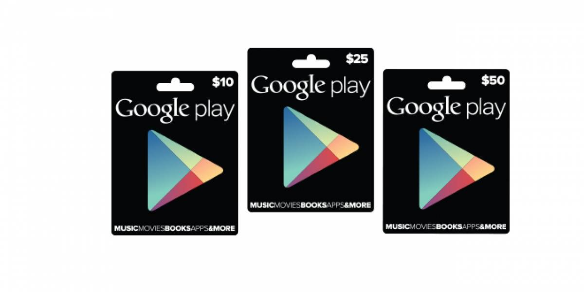 Google confirma 'Gift Cards' para la Play Store
