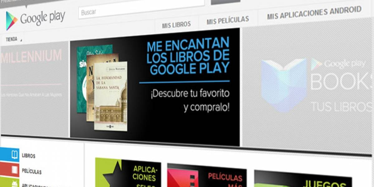 Google Play Books ya está disponible en España
