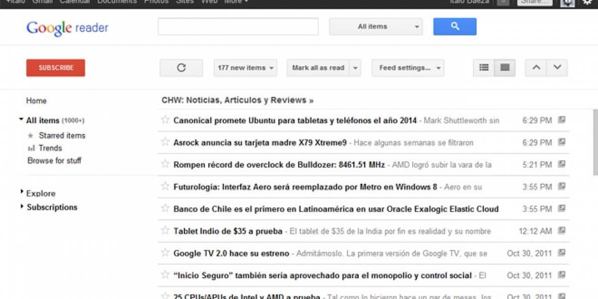 Google Reader se renueva e integra a Google+