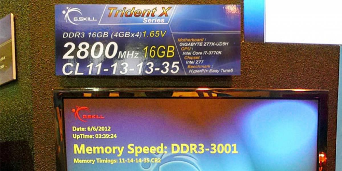 CTX2012: G.Skill se luce con DDR3-3000 MHz y un kit de 96GB
