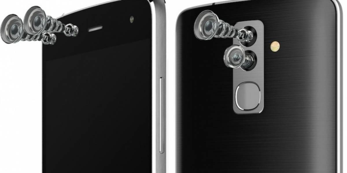 Alcatel lanza un equipo con 4 cámaras
