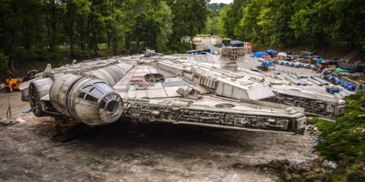 Así es el aspecto del Halcón Milenario de Star Wars: Episodio VIII