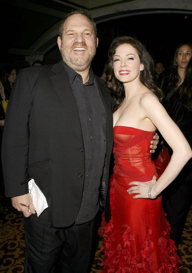 Rose McGowan y Harvey Weinstein