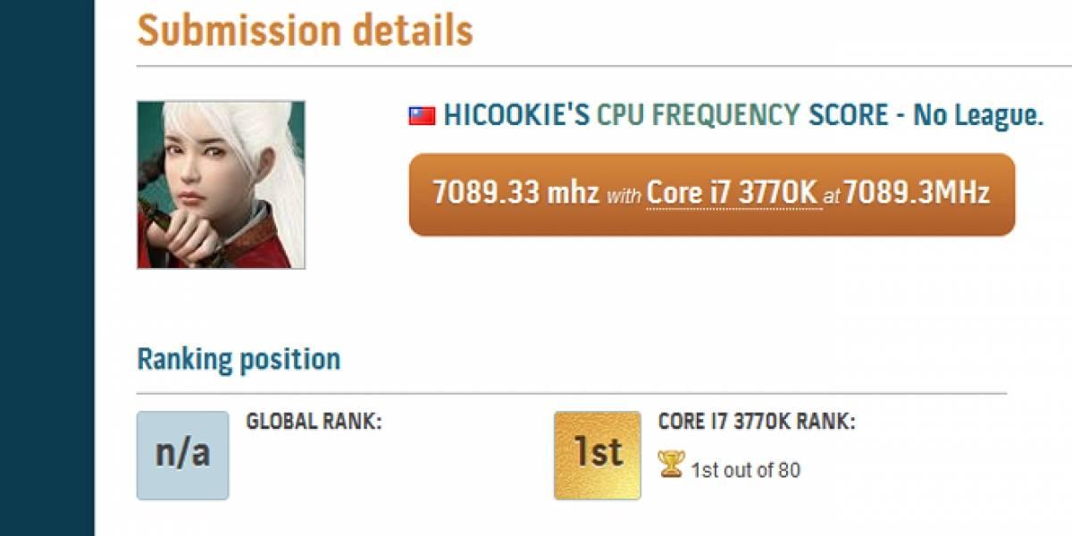 CTX2012: Nuevo récord de frecuencia para Ivy Bridge, 7089 MHz