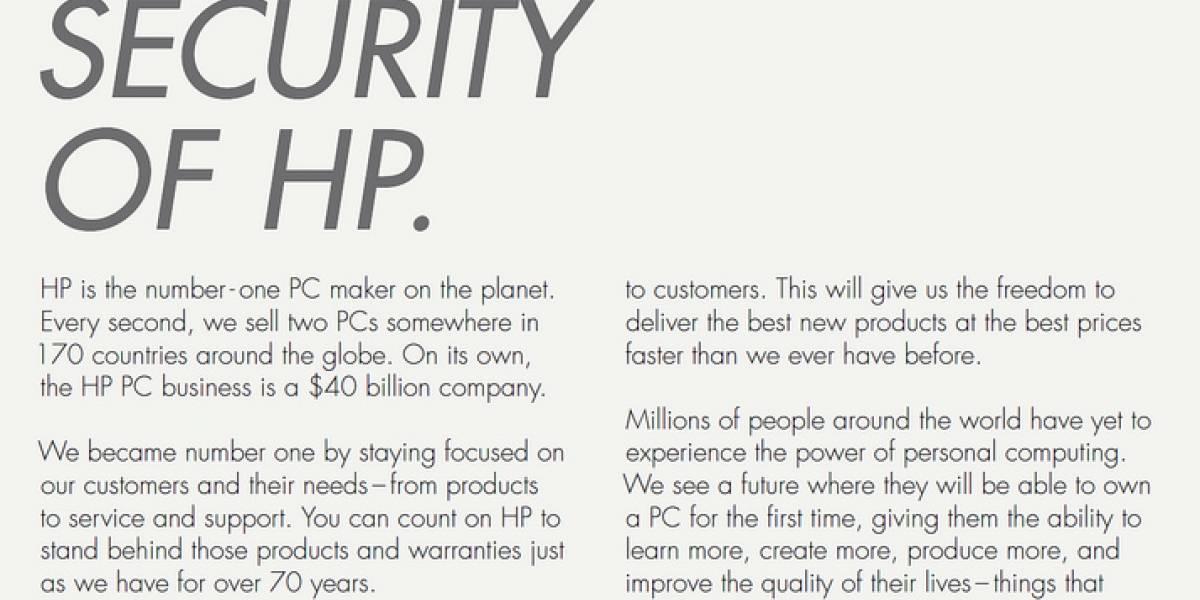 HP lo confirma: la división de PCs será una nueva compañía