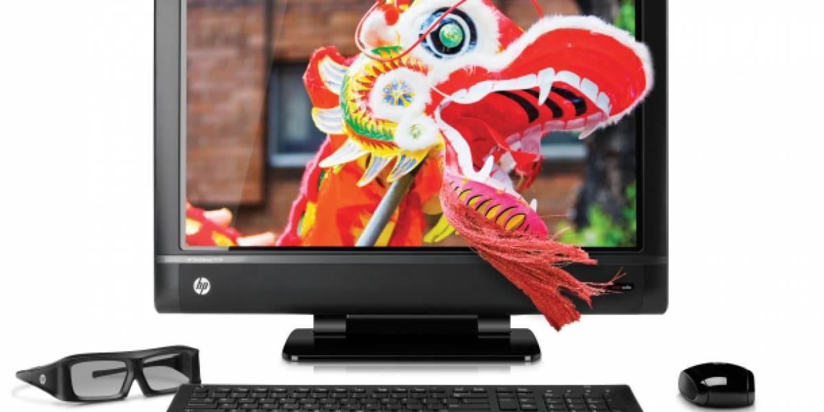 HP presenta equipo todo-en-uno y monitor con pantallas táctiles y 3D estereo
