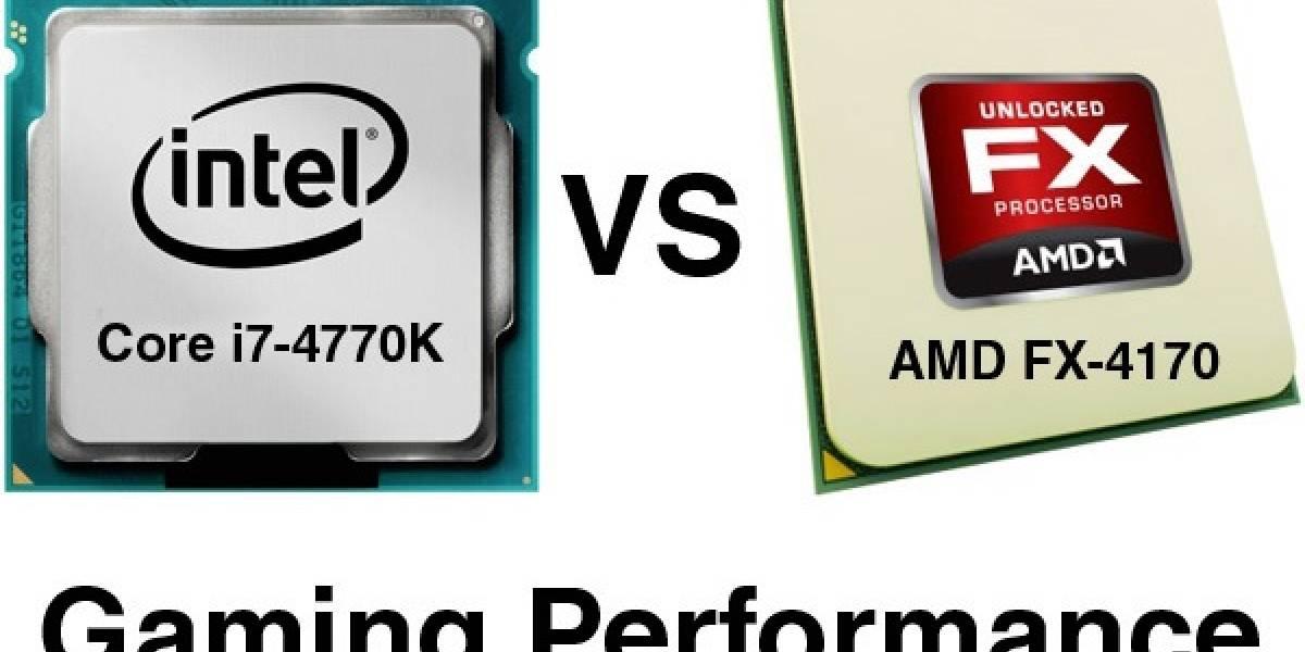 Intel Core i7-4770K vs AMD FX-4170 probados con 8 juegos