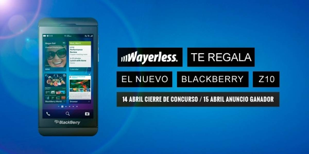 Gánate un BlackBerry Z10 con Wayerless