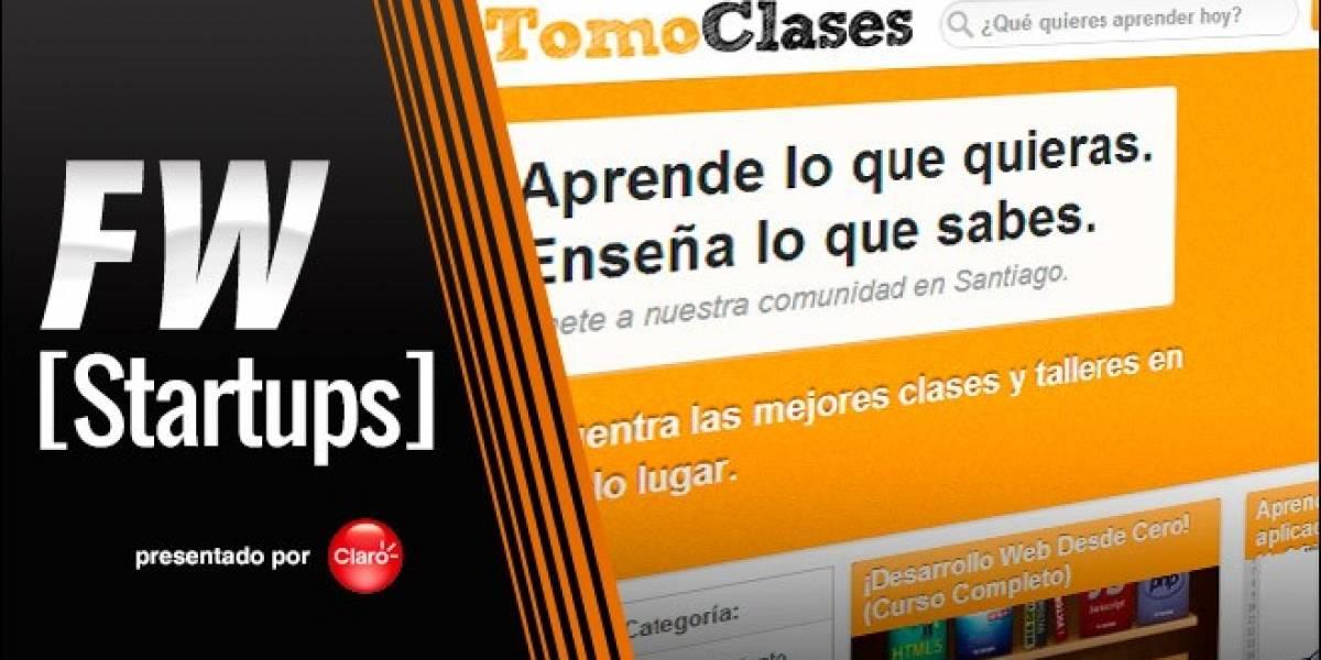 TomoClases: Más de 700 cursos para aprender online y offline (FW Startups)