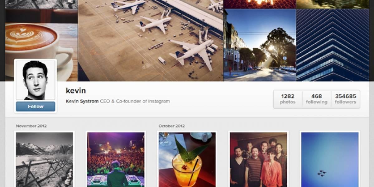 Perfiles personales de Instagram serán accesibles desde un navegador web