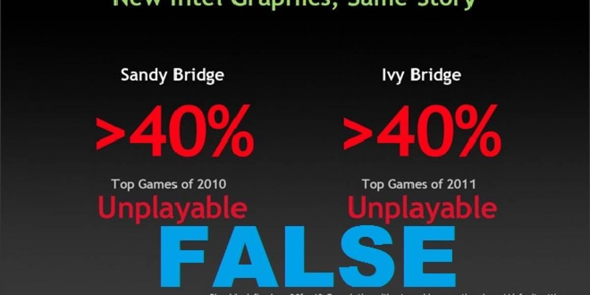 Intel: NVIDIA miente al decir que sus IGP no pueden con más del 40% de los juegos