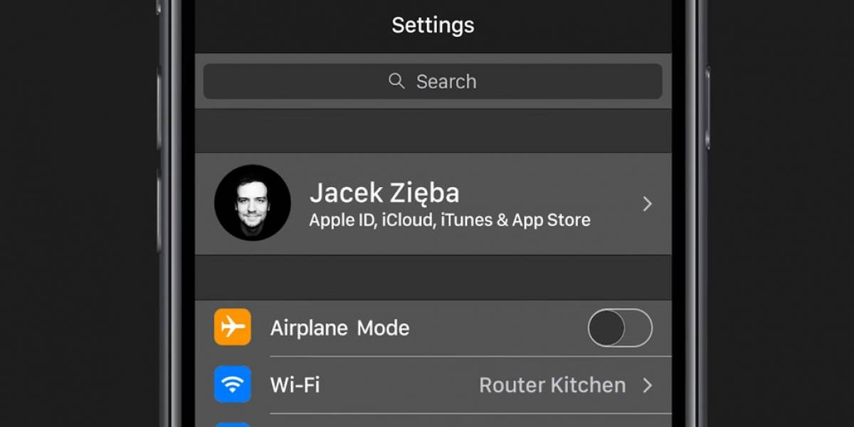 Así luciría iOS 11 con interfaz de modo nocturno