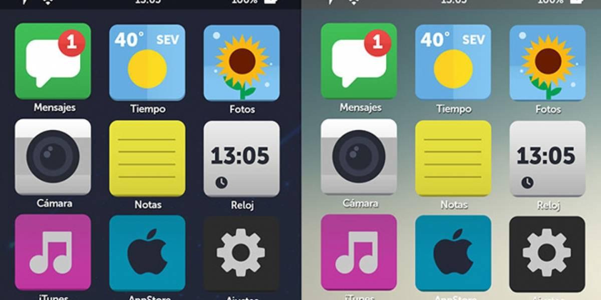 6 conceptos que se acercan a lo que podría ser iOS 7 con diseño plano
