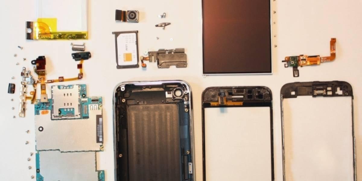 iPhone 3G S desarmado y expuesto