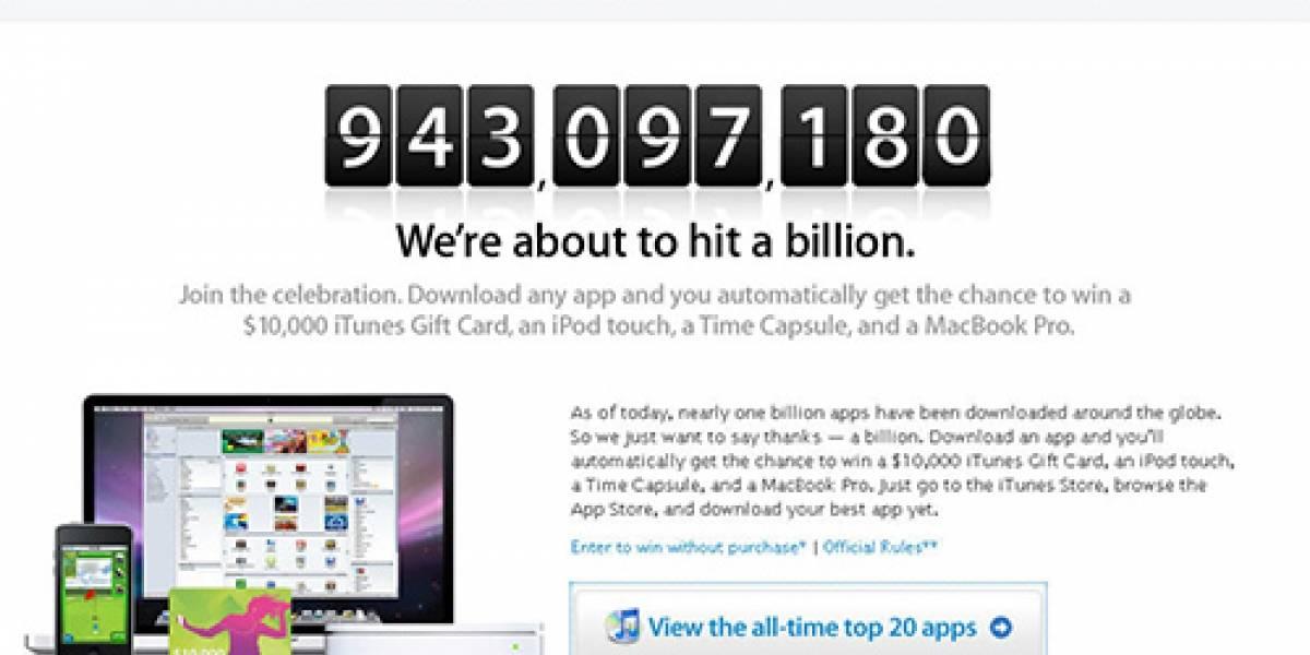 Apple está ansiosa de llegar a los mil millones de descargas desde App Store
