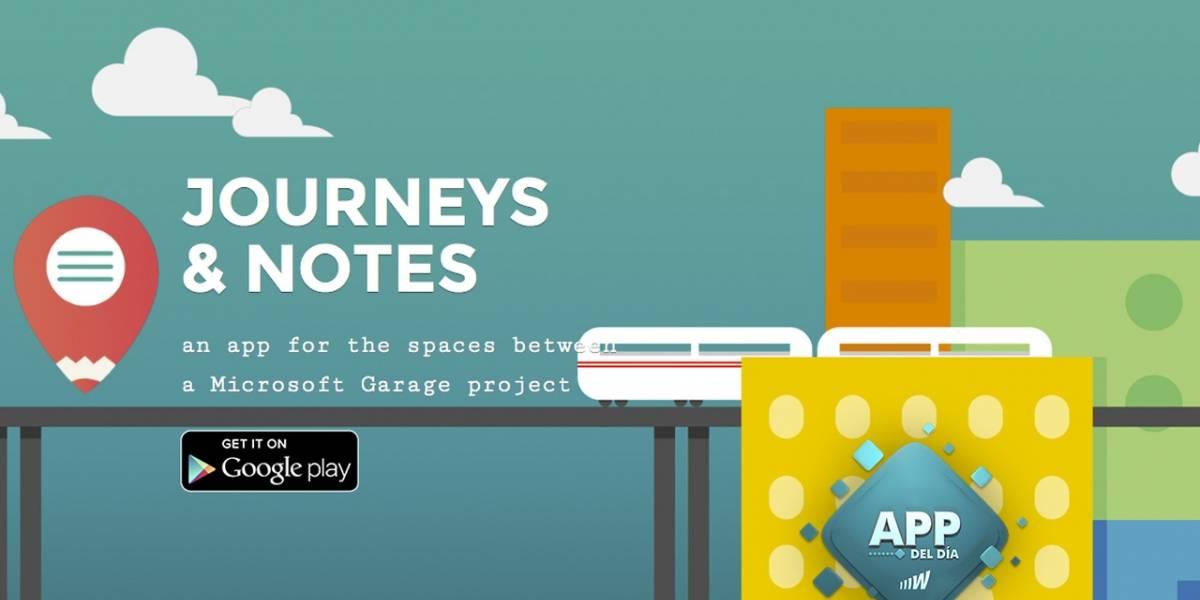 Journeys & Notes, un acompañante para los viajes [App del día]