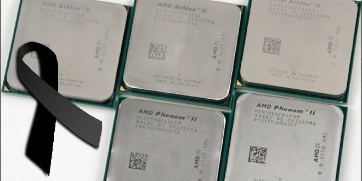 AMD descontinuará sus CPU K10.5 a mediados del próximo año