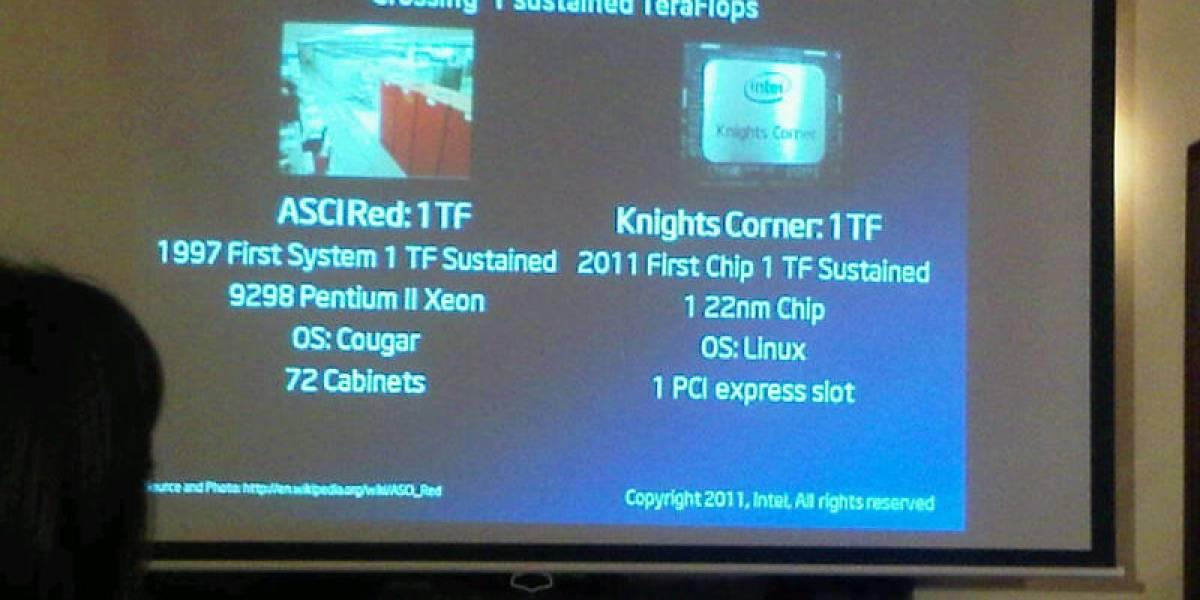 Intel Knights Corner: cGPU PCIe con una potencia de cálculo de 1 Teraflop