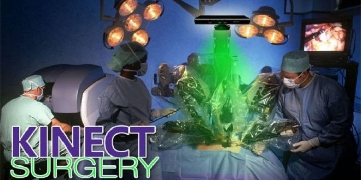 Kinect utilizado por cirujanos durante una operación