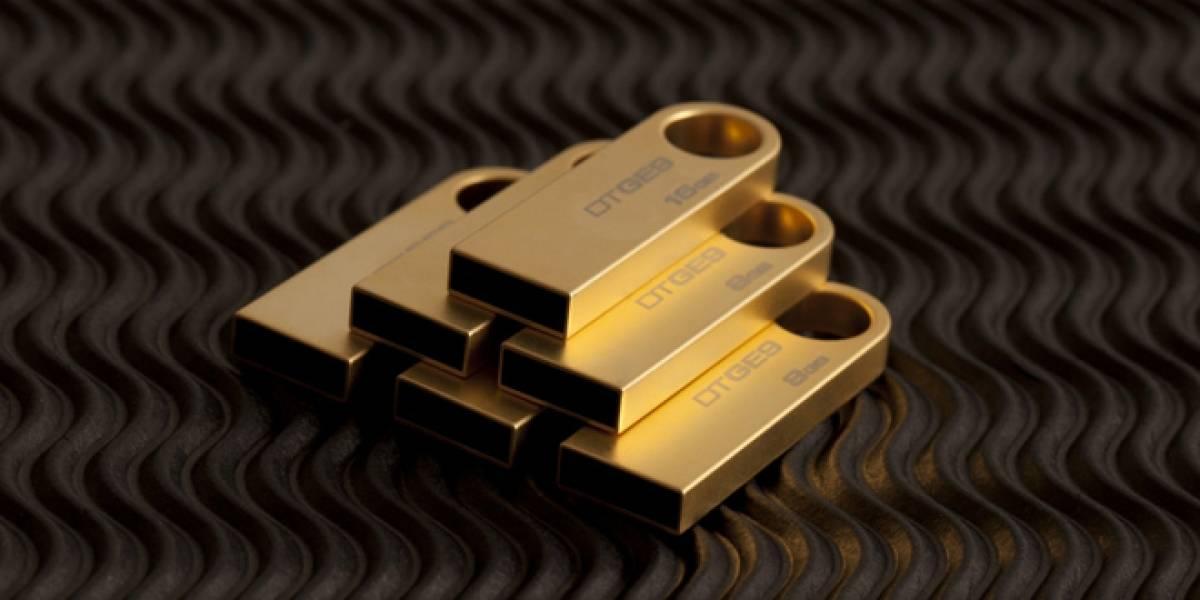 Kingston y su unidad USB extraíble cubierta en oro de 24 kilates