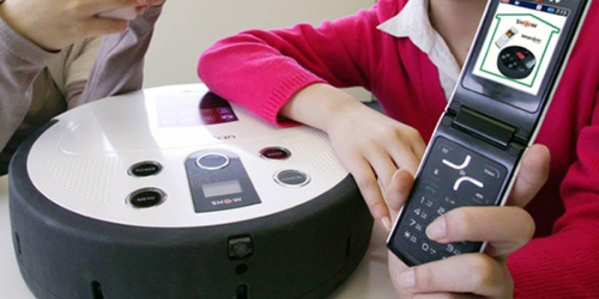 Corea del Sur: Presentan aspiradora robot controlada vía celular