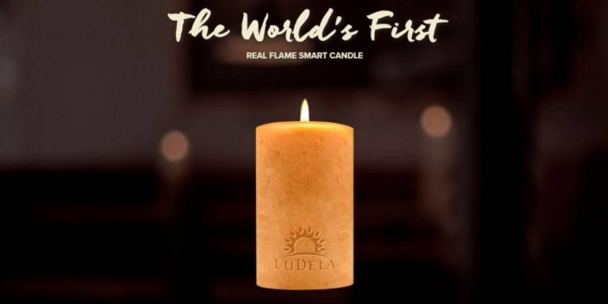Ludela es una vela real que puedes controlar con el móvil