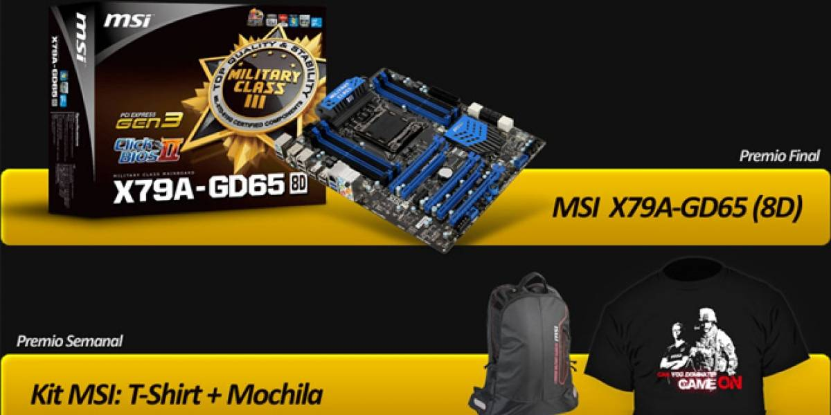 ¡MSI regala una placa madre MSI X79A-GD65(8D) en América Latina!