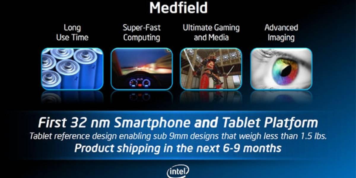 Intel ya prepara sucesores de Medfield de dos y cuatro núcleos