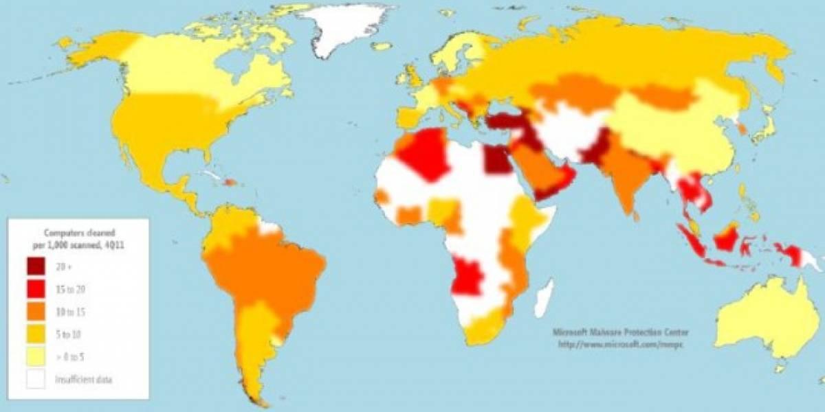 Estudio indica que los países más desarrollados tienen menos computadores infectados