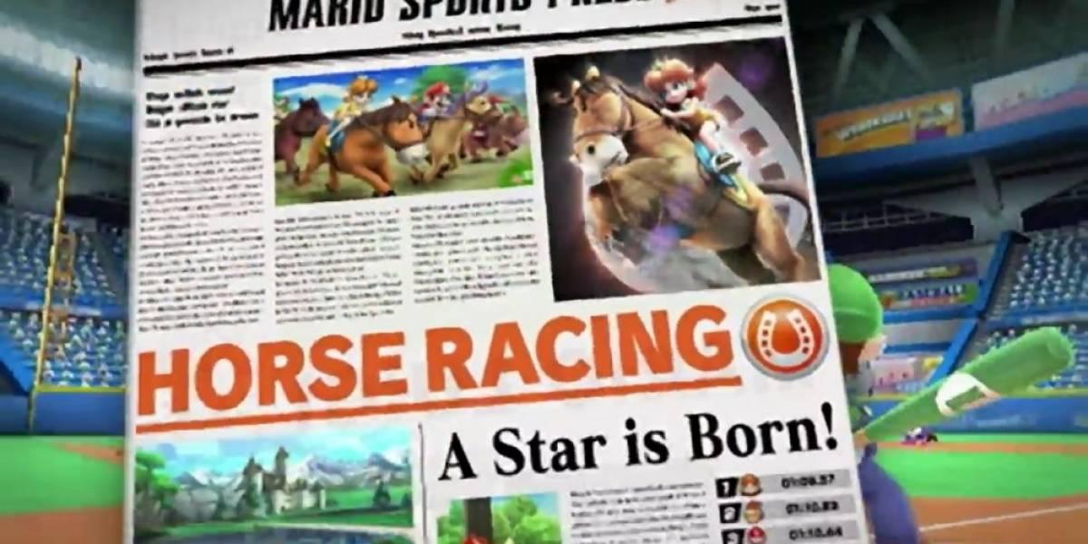 Mario Sports Superstars estrena tráiler centrado en las carreras de caballos