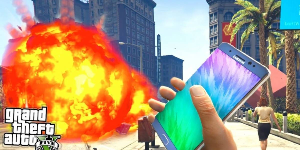 Samsung censura videos de GTA V con el Galaxy Note 7 explosivo