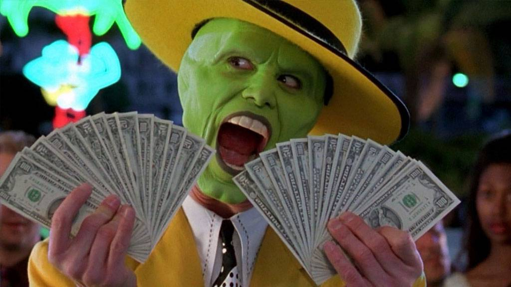meme dinero mask