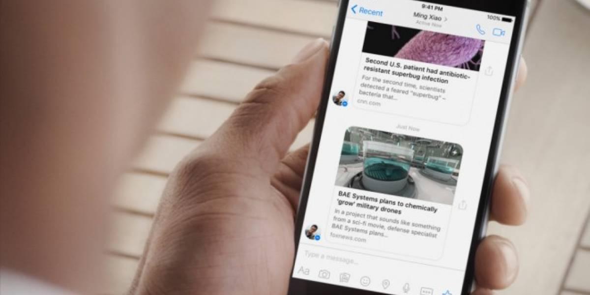 Facebook lleva Instant Articles a Messenger