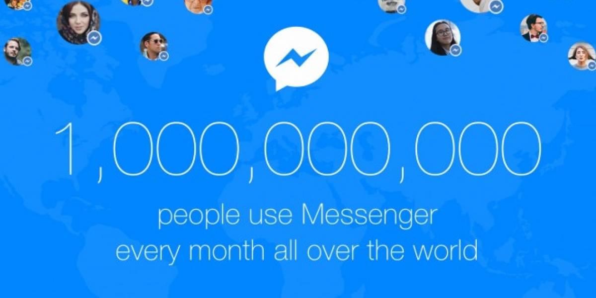 Facebook Messenger ya tiene mil millones de usuarios activos al mes