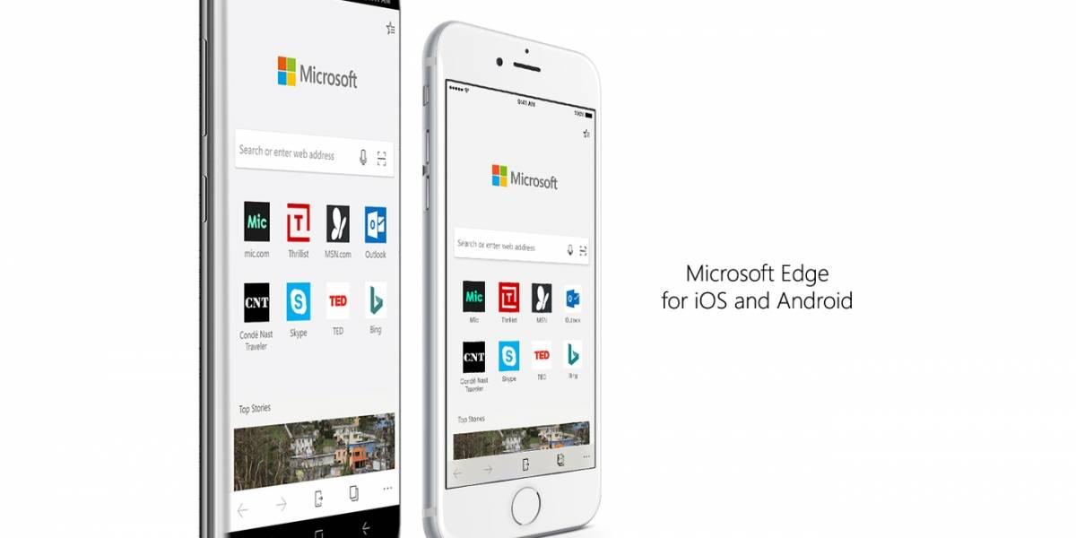 Microsoft Edge ya está disponible para todos los teléfonos iOS y Android