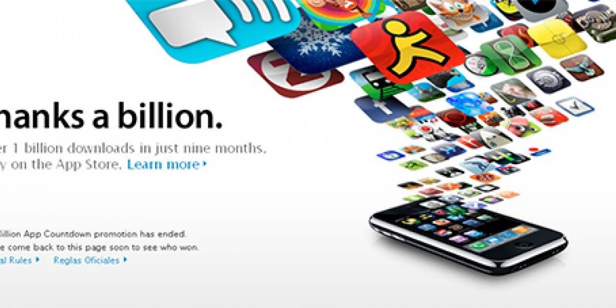 La App Store alcanza mil millones de descargas en 9 meses