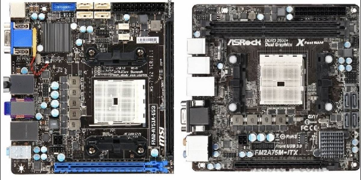 ASRock y MSI presentan sus tarjetas madre Mini-ITX para Trinity