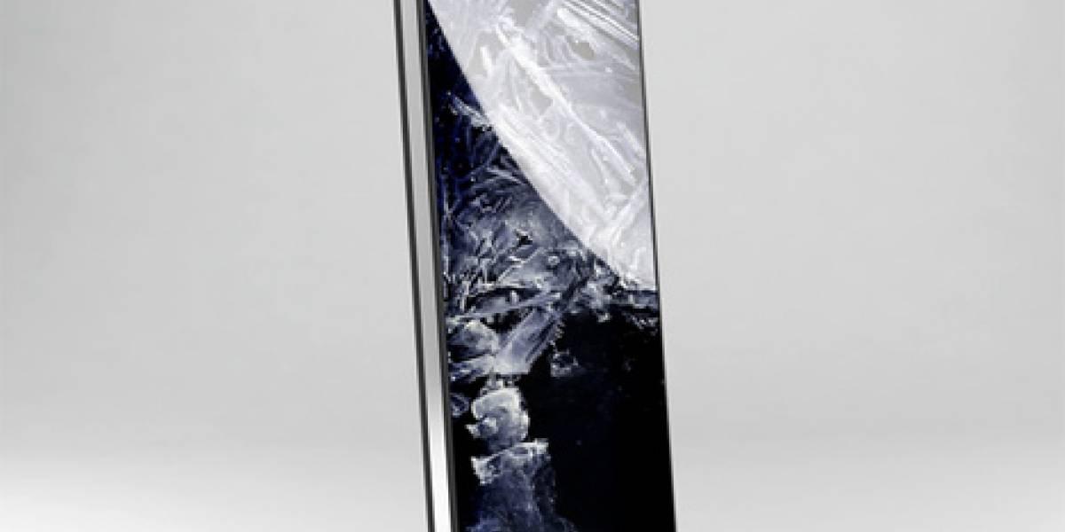 Concepto: Mobile Script Phone, con pantalla flexible Oled