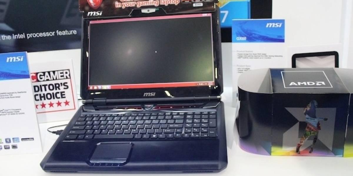 CTX2012: Notebook gamer MSI GX60 con Trinity y una HD 7970M