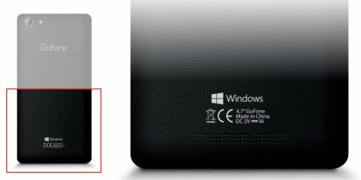 """Aparece el primer teléfono con la marca """"Windows"""""""