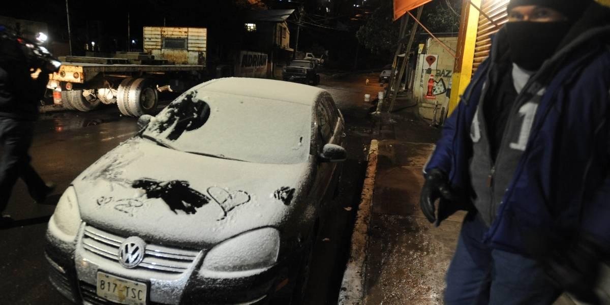Así se vivió la nevada en Cuajimalpa que sorprendió a la Ciudad de México