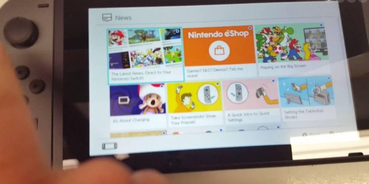 Primer vistazo al sistema operativo de la Nintendo Switch