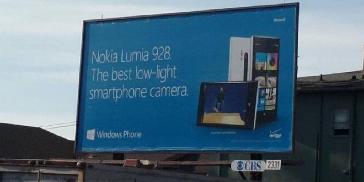 """Publicidad del Nokia Lumia 928 anuncia que tendrá """"la mejor cámara para condiciones de poca luz"""""""