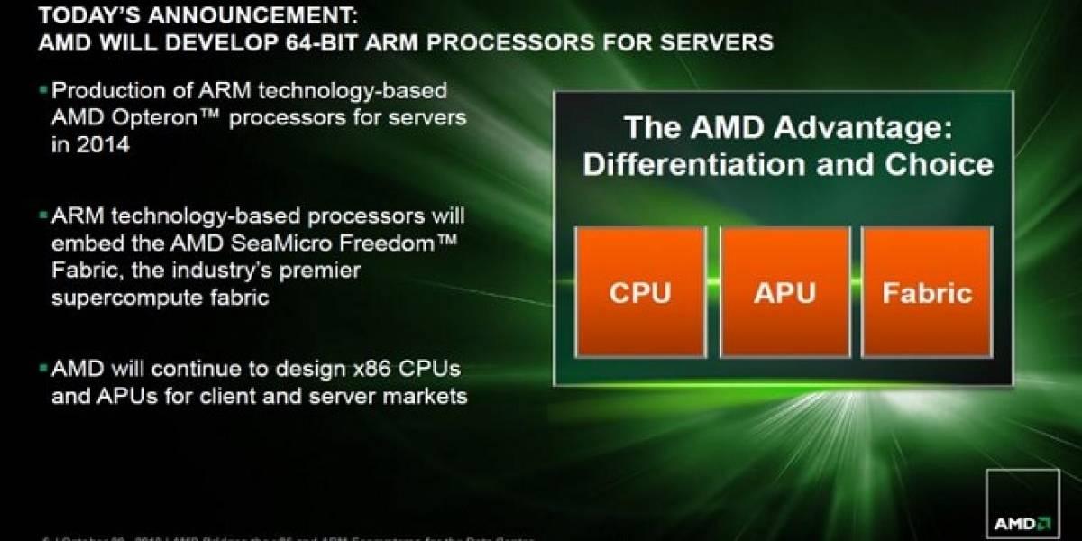 AMD anuncia futuros CPUs Opteron basados en ARM64