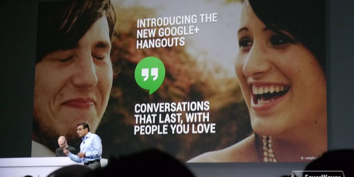 Google lanza aplicación de Hangouts, unificando la mensajería #IO13