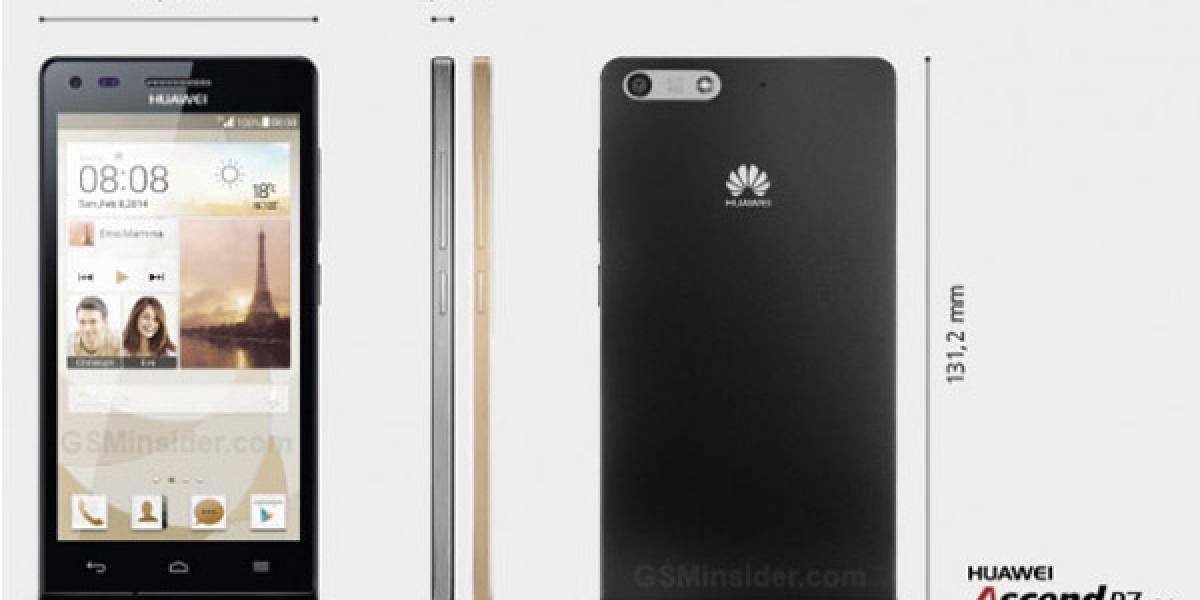 """Huawei presenta al Ascend P7 mini: pantalla de 4,5"""" y cuatro núcleos"""