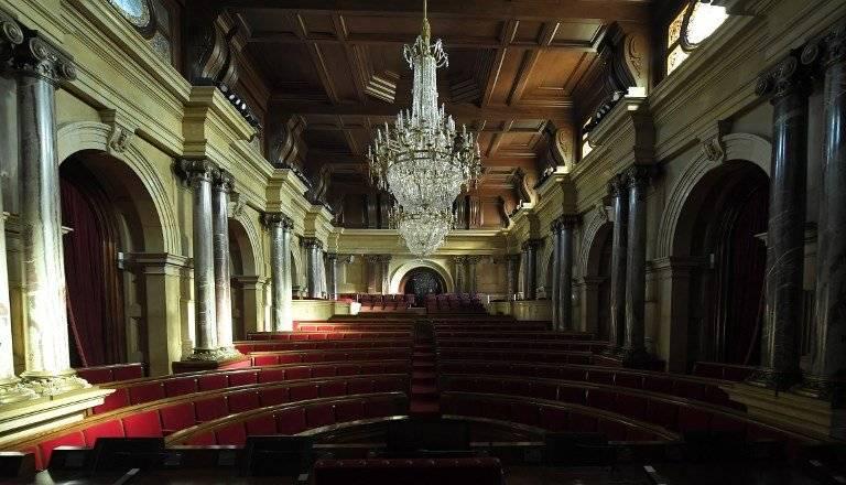 Parlamento de Cataluña, vacío