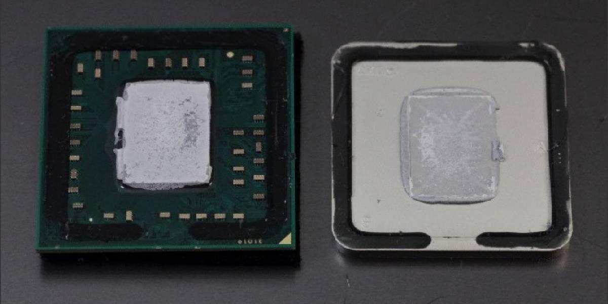 """APU AMD A10-5800K """"sin IHS"""" probado con distintas pastas térmicas"""